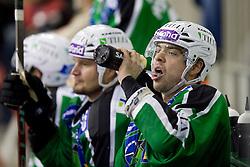 Igor Cvetek (HDD Tilia Olimpija, #4) during ice-hockey match between HD Tilia Olimpija and HK Acroni Jesenice  in 6th Round of EBEL league, on September 26, 2010 at Hala Tivoli, Ljubljana, Slovenia. (Photo By Matic Klansek Velej / Sportida.com)