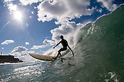 May 4 2011: Dane Pioli surfs at Duranbah Beach on the NSW and QLD border.