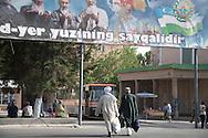 Registan complex, mosque and coranic schools  Samarcand  Ouzbekistan  .///.Registan ensemble des mosquees et ecoles coranique, XV VII  Samarcande  Ouzbekistan .///.OUZB56217
