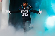Jacksonville Jaguars Linebacker Najee Goode (52) during the International Series match between Jacksonville Jaguars and Houston Texans at Wembley Stadium, London, England on 3 November 2019.