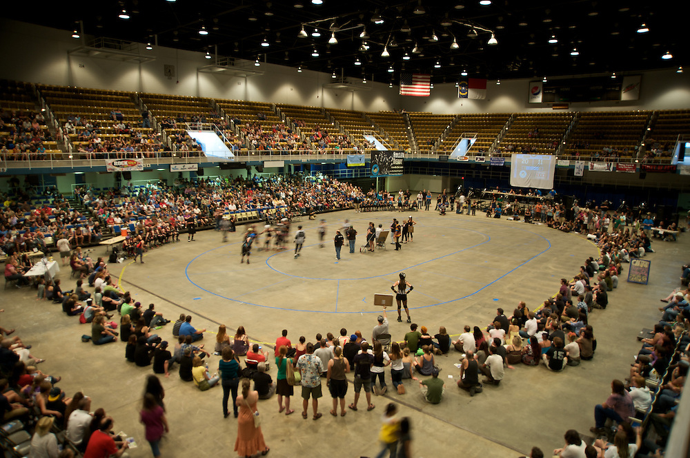 Founded in June of 2006, the Blue Ridge Rollergirls make up Asheville, NC's first all-female, flat track roller derby league. The league's mission is to actively create, promote, and sustain an environment that fosters strength, courage, vitality, and the empowerment of women in the roller derby sport.
