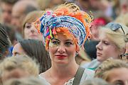 Fans watch as Goldfrapp plays the Obelisk Stage - The 2017 Latitude Festival, Henham Park. Suffolk 14 July 2017
