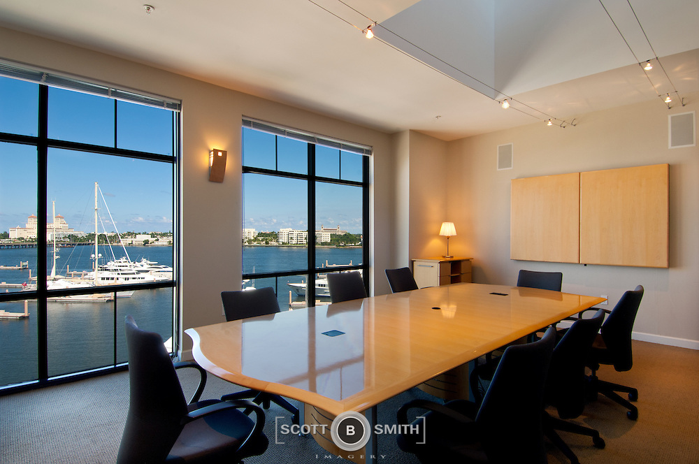 Commercial office conference room table scott b smith for Table 52 west palm beach