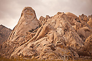 Rock formations in the Mojave Desert in the Mojave National Preserve, Kelso, CA