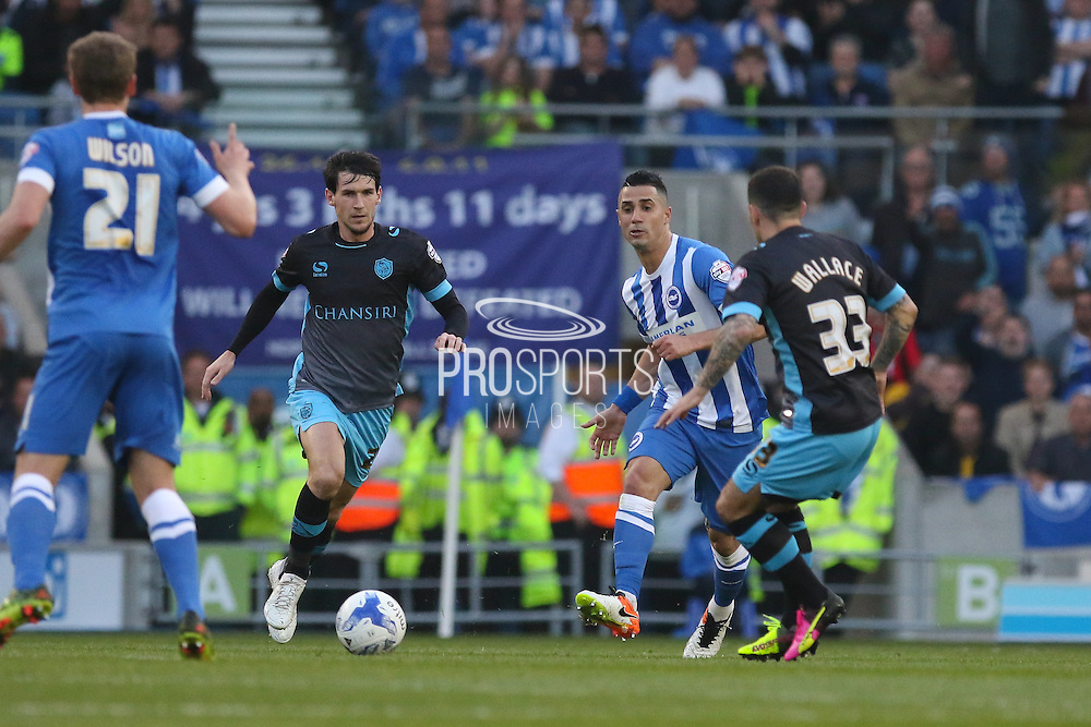 Brighton central midfielder, Beram Kayal (7) during the Sky Bet Championship play-off second leg match between Brighton and Hove Albion and Sheffield Wednesday at the American Express Community Stadium, Brighton and Hove, England on 16 May 2016. Photo by Phil Duncan.