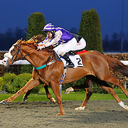 King Olav and Liam Keniry winning the 6.35 race
