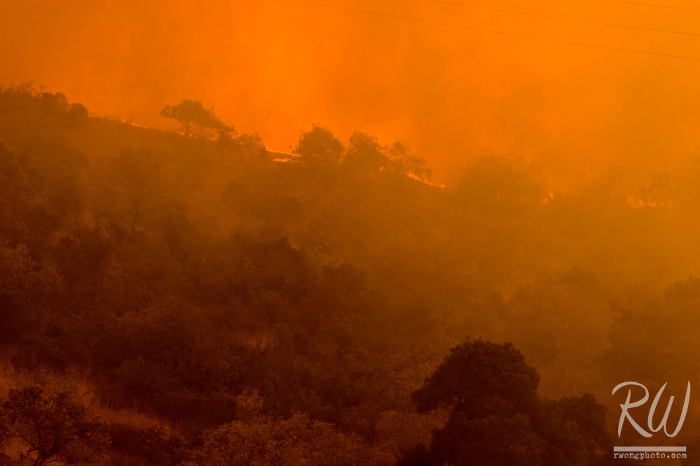Brea Canyon Fire, Diamond Bar, Southern California