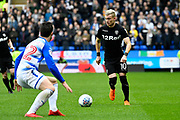 Ezgjan Alioski (10) of Leeds United on the attack during the EFL Sky Bet Championship match between Reading and Leeds United at the Madejski Stadium, Reading, England on 10 March 2018. Picture by Graham Hunt.
