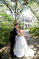 Kira Stojcich and Robert Walker celebrate their wedding in Mobile, Ala., Saturday, May 17, 2014.