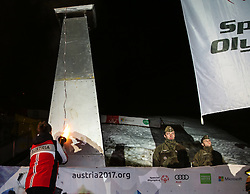 10.01.2016, Schladming, AUT, Special Olympics Pre-Games in Graz-Schladming-Ramsau, Eröffnungsfeier im WM-Park Planai, im Bild Special-Olympics-Athlet Alexander Radin (AUT) beim Entzünden des Special Olympics Feuers // athlete Alexander Radin of Austria sparks the fire during the opening ceremony of the Special Olympics Pre-Games in Schladming, Austria on 2016/01/10. EXPA Pictures © 2016, PhotoCredit: EXPA / Martin Huber