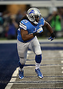 Detroit Lions running back Joique Bell (35) goes in motion during the NFL week 18 NFC Wild Card postseason football game against the Dallas Cowboys on Sunday, Jan. 4, 2015 in Arlington, Texas. The Cowboys won the game 24-20. ©Paul Anthony Spinelli