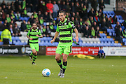 Forest Green Rovers Liam Noble(15) on the ball during the Vanarama National League match between Macclesfield Town and Forest Green Rovers at Moss Rose, Macclesfield, United Kingdom on 12 November 2016. Photo by Shane Healey.