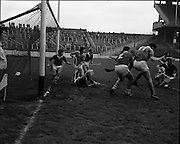 01/11/1970<br /> 11/01/1970<br /> 1 November 1970<br /> All-Ireland Under-21 Hurling Final: Cork v Wexford at Croke Park, Dublin. <br /> Even with the score well in their favour, Cork defence made an all out effort to wage off Wexford's attempted come-back.