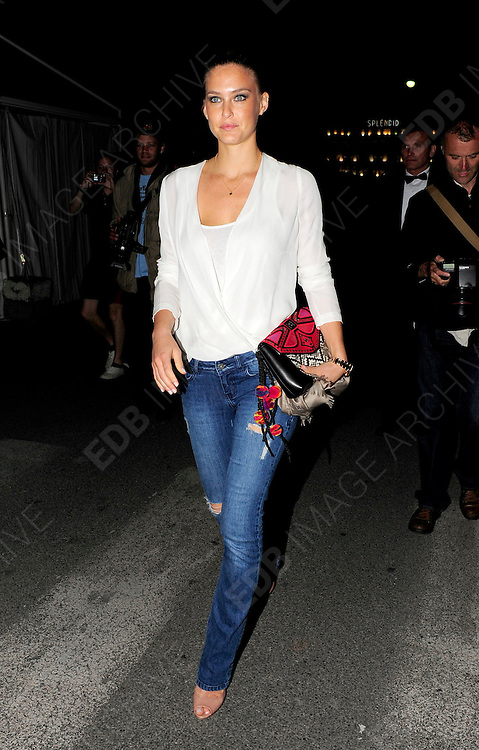 17.MAY.2011. CANNES<br /> <br /> BAR REFAELI ARRIVING AT THE PAUL ALLEN OCTOPUSSY PARTY AT THE CANNES DU PORT DURING THE 64TH CANNES INTERNATIONAL FILM FESTIVAL 2011 IN CANNES, FRANCE<br /> <br /> BYLINE: EDBIMAGEARCHIVE.COM<br /> <br /> *THIS IMAGE IS STRICTLY FOR UK NEWSPAPERS AND MAGAZINES ONLY*<br /> *FOR WORLD WIDE SALES AND WEB USE PLEASE CONTACT EDBIMAGEARCHIVE - 0208 954 5968*