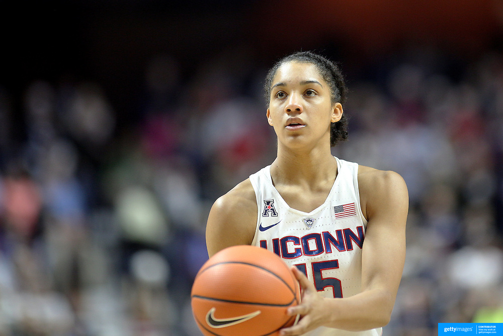UNCASVILLE, CONNECTICUT- DECEMBER 4: Gabby Williams #15 of the Connecticut Huskies in action during the UConn Huskies Vs Texas Longhorns, NCAA Women's Basketball game in the Jimmy V Classic on December 4th, 2016 at the Mohegan Sun Arena, Uncasville, Connecticut. (Photo by Tim Clayton/Corbis via Getty Images)