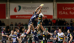 Josh Beaumont (c) of Sale Sharks wins a line out - Mandatory by-line: Matt McNulty/JMP - 03/03/2017 - RUGBY - AJ Bell Stadium - Sale, England - Sale Sharks v Northampton Saints - Aviva Premiership