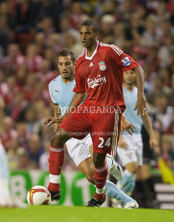 LIVERPOOL, ENGLAND - Friday, August 8, 2008: Liverpool's David Ngog in action against Lazio during a pre-season friendly match at Anfield. (Photo by David Rawcliffe/Propaganda)
