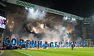 FOOTBALL: Fans of Fc København before the UEFA Europa League, Round of 32, 1st leg match between FC København and Atlético Madrid at Parken Stadium, Copenhagen, Denmark on February 15, 2018. Photo: Claus Birch.