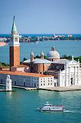 San Giorgio Maggiore church and the Venetian Lagoon, Venice, Veneto, Italy