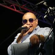 London, UK. 4th August 2017. Roberto Pla and his Latin Jazz Ensemble at the Plaza Latina Festival. A Latin summer festival party with live music, delicious food & drinks. The vibrant of Latin culture and colourful at Nursery Row Park, East Street.