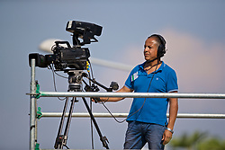 NAPLES, ITALY - Tuesday, September 17, 2019: A television camera operator during the UEFA Youth League Group E match between SSC Napoli and Liverpool FC at Stadio Comunale di Frattamaggiore. (Pic by David Rawcliffe/Propaganda)