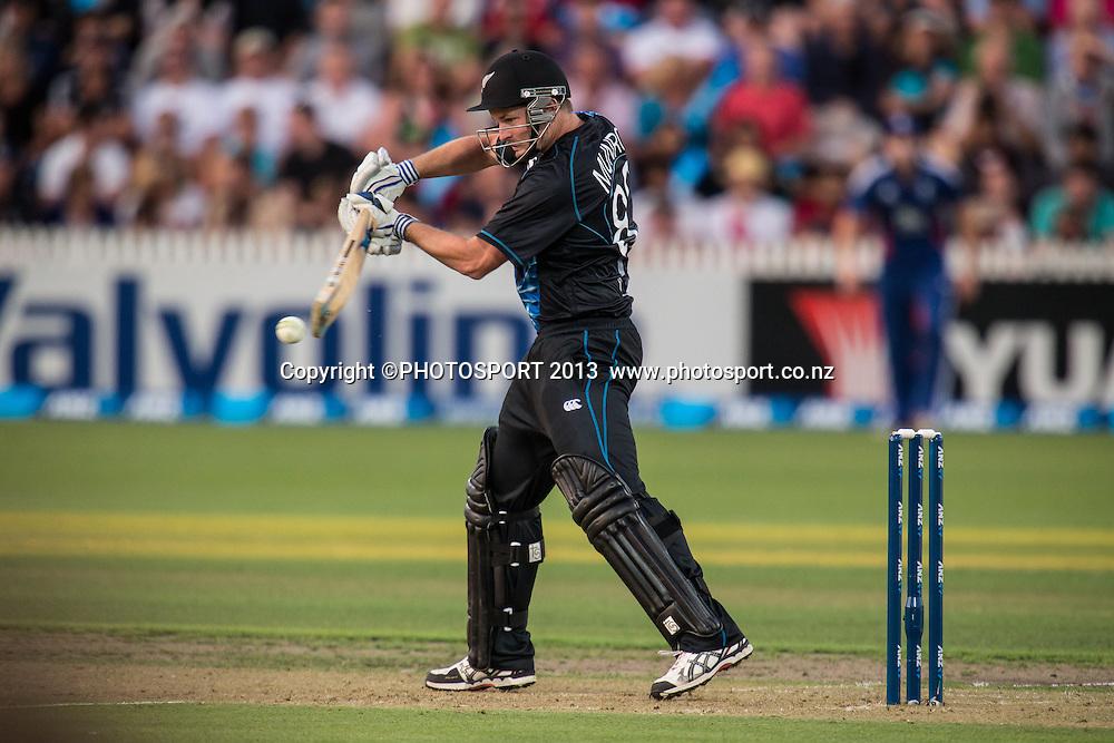 Colin Munro during the ANZ T20 Series. 2nd Twenty20 Cricket International. New Zealand Black Caps versus England at Seddon Park, Hamilton, New Zealand. Tuesday 12 February 2013. Photo: Stephen Barker/Photosport.co.nz