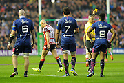 9 Will Heinz gets yellow card during the European Rugby Challenge Cup match between Gloucester Rugby and Stade Francais at BT Murrayfield, Edinburgh, Scotland on 12 May 2017. Photo by Kevin Murray.
