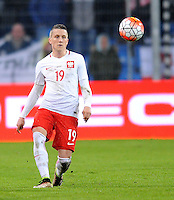 2016.03.23 Poznan<br /> Pilka Nozna Reprezentacja Mecz towarzyski<br /> Polska - Serbia<br /> N/z Piotr Zielinski<br /> Foto Rafal Rusek / PressFocus<br /> <br /> 2016.03.23 Poznan<br /> Football Friendly Game<br /> Poland - Serbia<br /> Piotr Zielinski<br /> Credit: Rafal Rusek / PressFocus