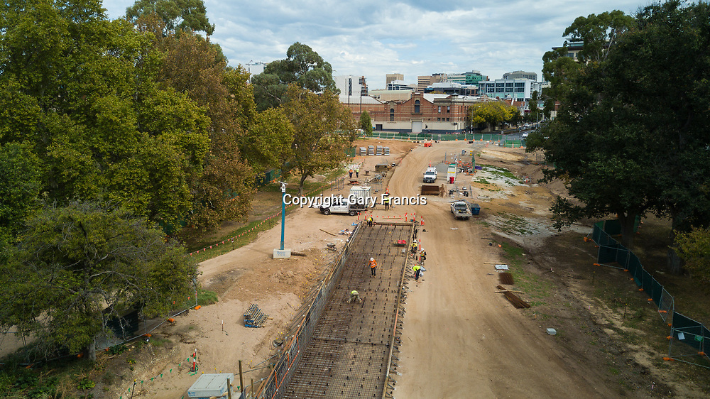 O-Bahn City Access Project construction by MacDow, Adelaide, Australia - images taken on the 19 April 2017