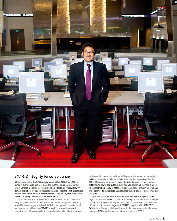 Mr. Ito Warsito, CEO Indonesian Stock Exchange for Nasdaq OMX, 2011.