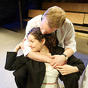 Larisa and the Merchants<br /> by Alexander Ostrovsky <br /> at the Arcola Theatre <br /> adaptation by Samuel Adamson <br /> Press photocell<br /> 2nd MAy 2013 <br /> <br /> Ben Addis<br /> Brendan Gregory <br /> Jennifer Kidd<br /> Annabel Leventon <br /> Tarek Merchant <br /> Sam Phillips<br /> Morgan Philpott<br /> Jack Wilkinson <br /> <br /> Photograph by Elliott Franks