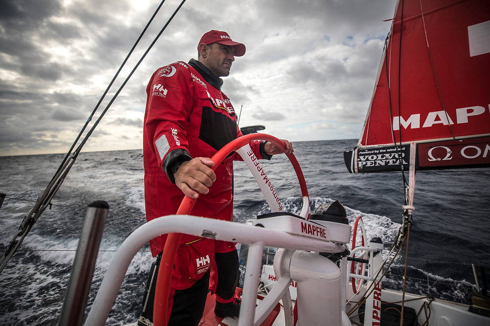 Leg 6 to Auckland, day 03 on board MAPFRE, Xabi Fernandez stearing. 09 February, 2018.