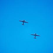 NLD/Ede/20190921- Prince Charles en Prinses Beatrix bij herdenking Airborne, Fly by van vliegtuigen