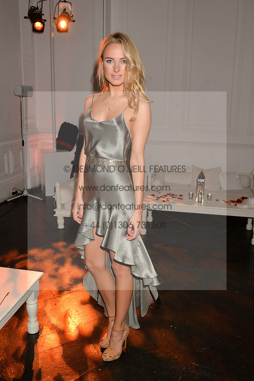 KIMBERLEY GARNER at White by Agadir hosted by the Moroccan National Tourist Office to celebrate the White City in Morocco in the presence of H.H.Princess Lalla Joumala, Ambassador of HM The King of Morocco held at Il Bottaccio, 9 Grosvenor Place, London on 4th November 2014.