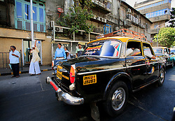 INDIA MUMBAI 28MAY10 - CNG-powered taxi cab in Mumbai, India...jre/Photo by Jiri Rezac..© Jiri Rezac 2010