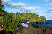 Blowholes at Turtle and Shark site in Tutuila island, American Samoa, South Pacific