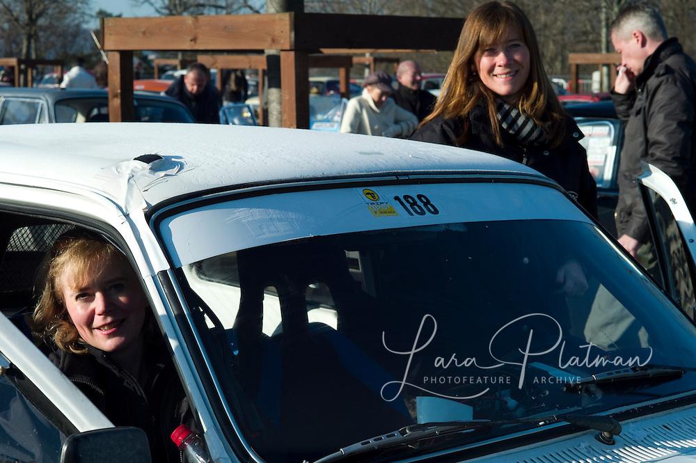 photographs of the 13th Monte Carlo Rally 13th Rallye Historique Monte Carlo Steffi Edelhoff and Birgit Binder