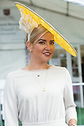 30/07/2015 report free : Winners Announced in Kilkenny Best Dressed Lady, Kilkenny Best Irish Design &amp; Kilkenny Best Hat Competition at Galway Races Ladies Day <br /> At the event was Alex Popovici from Galway . <br /> Photo:Andrew Downes, xposure