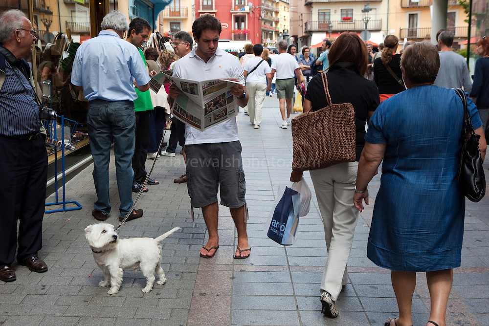 Taking the reader for a walk. Puigcerda.