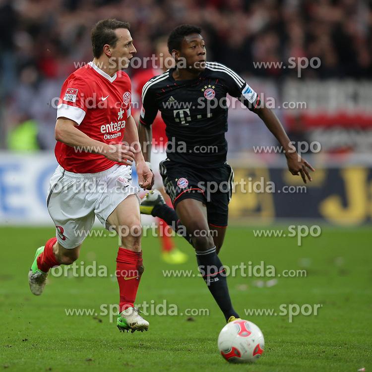 02.02.2013, Coface Arena, Mainz, GER, 1. FBL, 1. FSV Mainz 05 vs FC Bayern Muenchen, 20. Runde, im Bild Zdenek POSPECH (FSV Mainz 05 - 3) - David ALABA (FC Bayern Muenchen - 27) // during the German Bundesliga 20th round match between 1. FSV Mainz 05 and FC Bayern Munich at the Coface Arena, Mainz, Germany on 2013/02/02. EXPA Pictures © 2013, PhotoCredit: EXPA/ Eibner/ Gerry Schmit..***** ATTENTION - OUT OF GER *****
