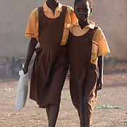 Children on their way to school in Savelugu, Ghana on Tuesday June 5, 2007.