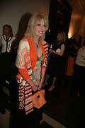 Joanna Lumley,  ICA 60: PECHA KUCHA. Fundraiser for the Institute of Contemporary Arts. Florence Hall, RIBA, 66 Portland Place, London. 17 May 2007. -DO NOT ARCHIVE-© Copyright Photograph by Dafydd Jones. 248 Clapham Rd. London SW9 0PZ. Tel 0207 820 0771. www.dafjones.com.