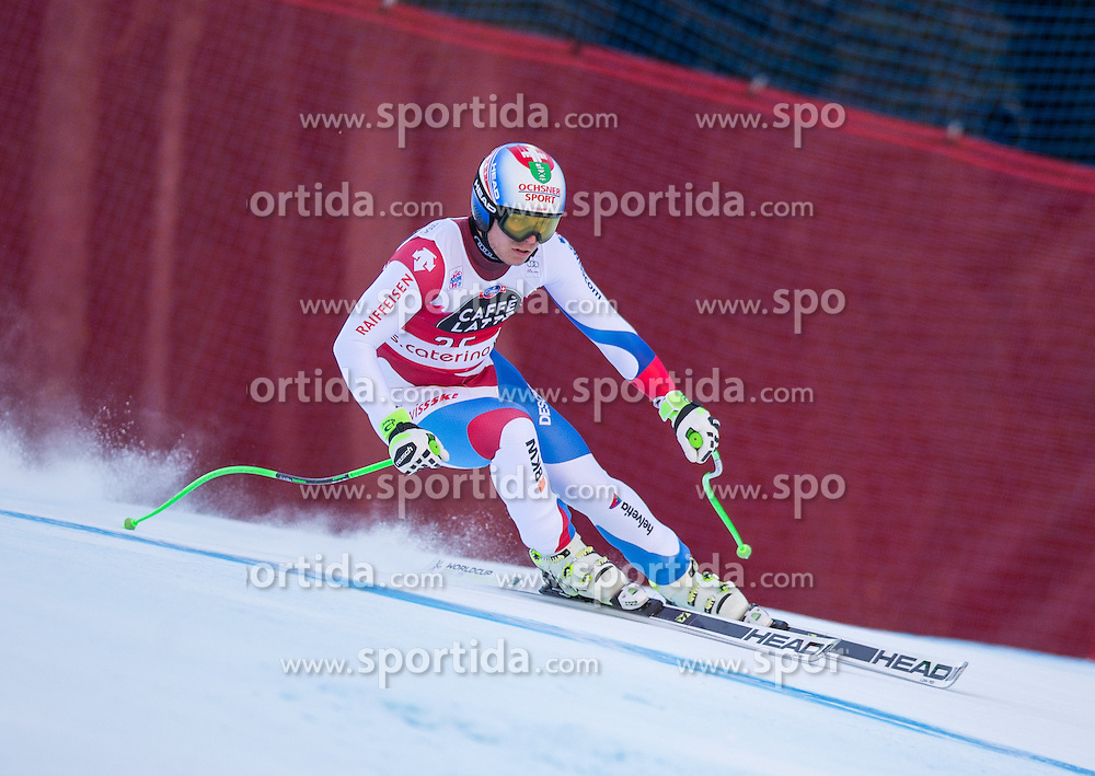 29.12.2015, Deborah Compagnoni Rennstrecke, Santa Caterina, ITA, FIS Ski Weltcup, Santa Caterina, Abfahrt, Herren, im Bild Ralph Weber (SUI) // Ralph Weber of Switzerland in action during the men's Downhill of the Santa Caterina FIS Ski Alpine World Cup at the Deborah Compagnoni Course in Santa Caterina, Italy on 2015/12/29. EXPA Pictures © 2015, PhotoCredit: EXPA/ Johann Groder