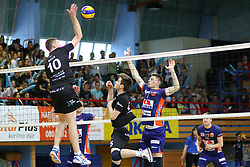 Boris Brus of Calcit Kamnik during volleyball match between Calcit Volleyball and ACH Volley in Round #4 of Finals of 1. DOL Slovenian Championship 2014/15, on April 23, 2015 in Sportna Dvorana, Kamnik, Slovenia. Photo by Matic Klansek Velej / Sportida