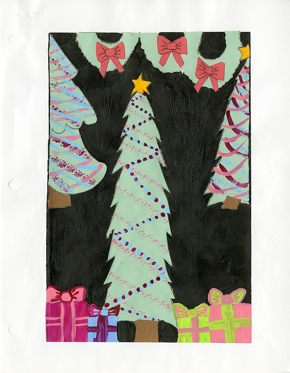 Holiday card designed by Natasha Bennett of Sharpstown International.