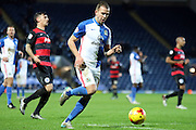 Jordan Rhodes during the Sky Bet Championship match between Blackburn Rovers and Queens Park Rangers at Ewood Park, Blackburn, England on 12 January 2016. Photo by Pete Burns.