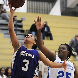 Staff photos by Tom Kelly IV<br /> West Chester's Jasmen Clark (3) goes up for a layup past Cheyney's Destiny McFarlane (25) during the women's basketball game between West Chester and Cheyney, at Cheyney University, Wednesday night January 29, 2014.