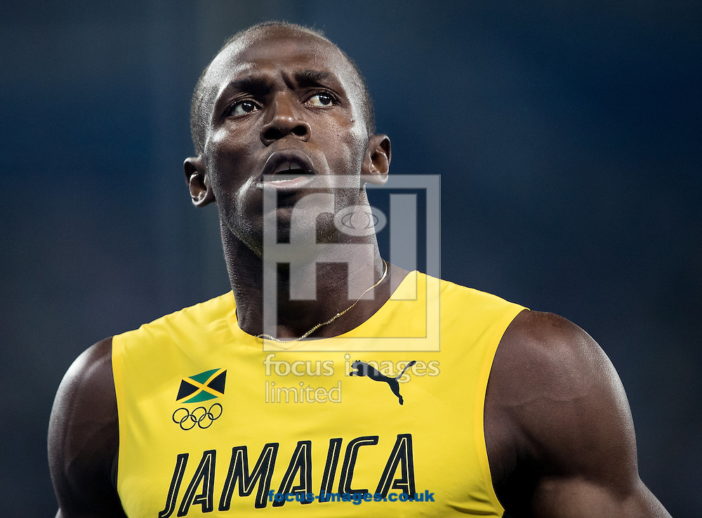 Usain Bolt of Jamaica during the Men's 100m Semi-final on day nine of the XXXI 2016 Olympic Summer Games in Rio de Janeiro, Brazil.<br /> Picture by EXPA Pictures/Focus Images Ltd 07814482222<br /> 14/08/2016<br /> *** UK &amp; IRELAND ONLY ***<br /> <br /> EXPA-GRO-160815-5434.jpg
