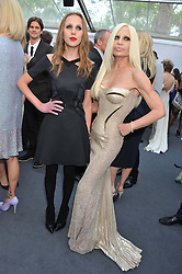 Left to right, ALLEGRA VERSACE and DONATELLA VERSACE at the Glamour Women of the Year Awards 2012 in association with Pandora held in Berkeley Square Gardens, London W1 on 29th May 2012.