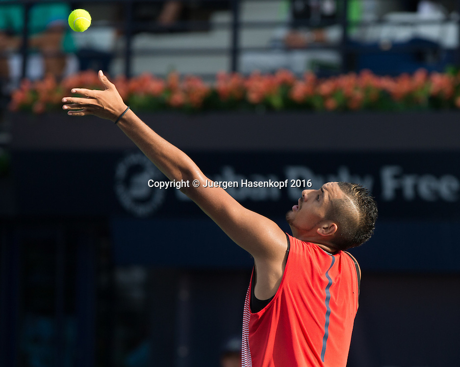 Nick Kyrgios (AUS)<br /> <br /> Tennis - Dubai Duty Free Tennis Championships - ATP -   - Dubai -  - United Arab Emirates  - 25 February 2016. <br /> &copy; Juergen Hasenkopf
